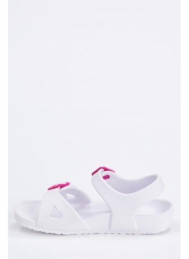 DeFacto Kız Çocuk Sandalet Beyaz